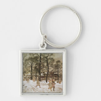 Winter in Kensington Gardens Keychain