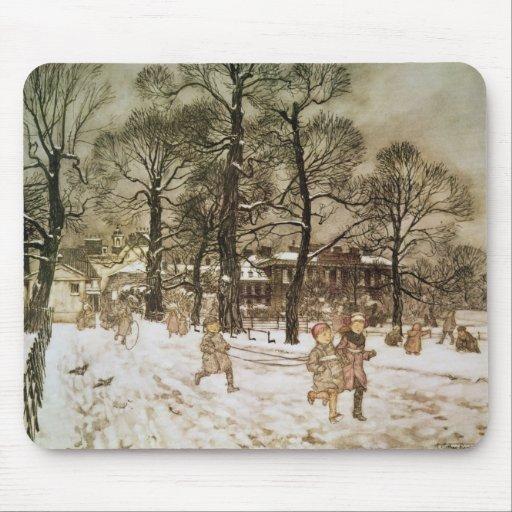 Winter in Kensington Gardens Mouse Pad