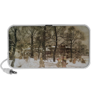 Winter in Kensington Gardens Portable Speaker