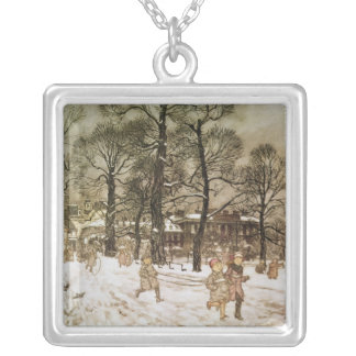 Winter in Kensington Gardens Silver Plated Necklace