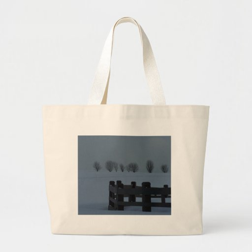 Winter In Maine Canvas Bags