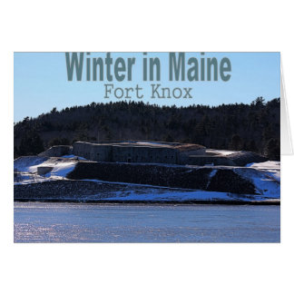 Winter in Maine Greeting Cards