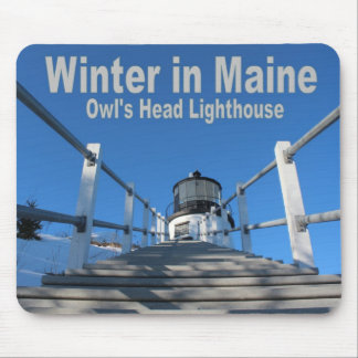 Winter in Maine Mouse Pad