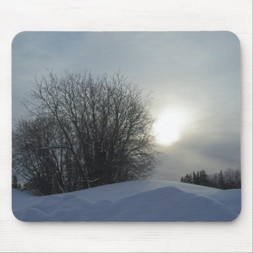 Winter In Maine Mouse Pads