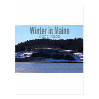 Winter in Maine Post Cards