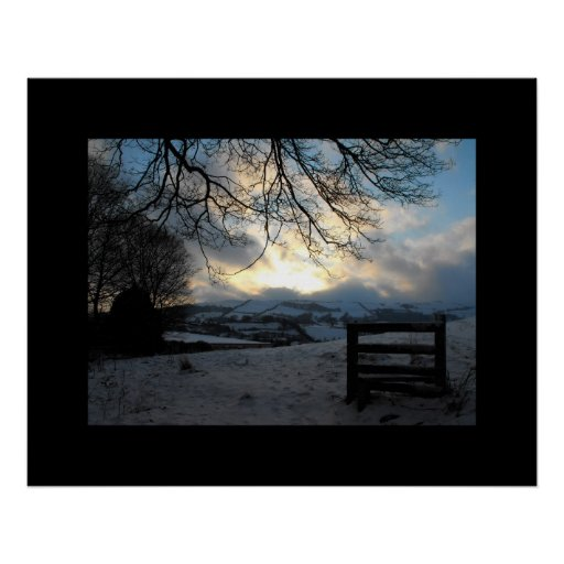 Winter in Mid Wales Print