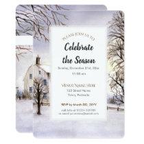 Winter in New England Christmas Festive Invitation