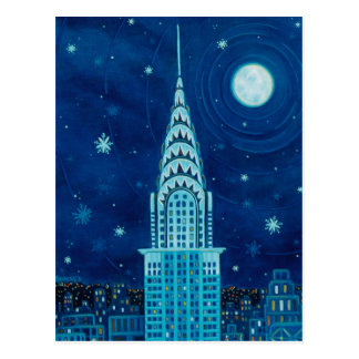 Winter in New York City Postcard