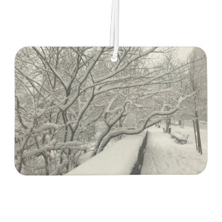 Winter in New York City Riverside Park Snow NYC Car Air Freshener