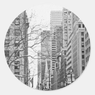 Winter in New York City Sticker