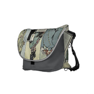 Winter in New York City Vintage 1895 Cartoon Courier Bag