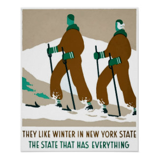 Winter in New York State Travel Poster