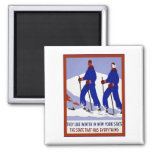 Winter In New York State ~ Vintage Travel Refrigerator Magnets