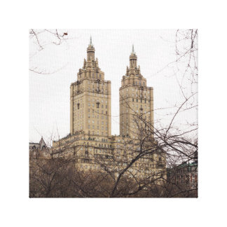 Winter in New York with the view of The San Remo Canvas Print