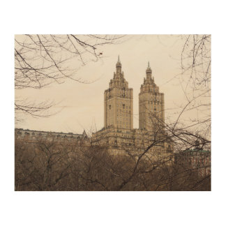 Winter in New York with the view of The San Remo Wood Wall Decor