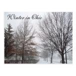 WINTER IN OHIO postcard