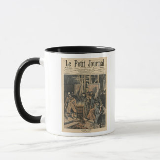 Winter in Paris, around the brazier Mug