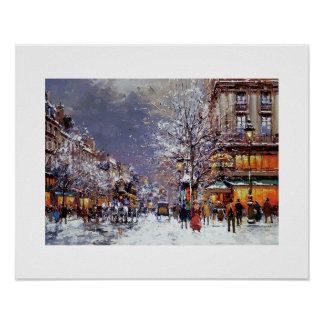 Winter in Paris. Fine Art Poster