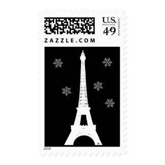 Winter in Paris Stamp