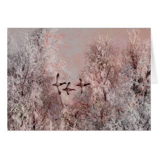 Winter in Pink Art Card