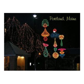 Winter in Portland, Maine Postcard
