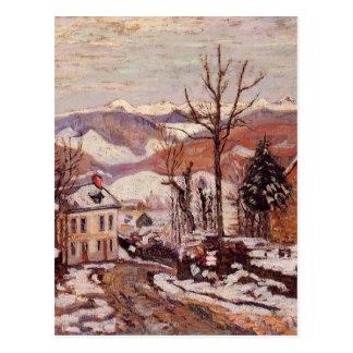 Winter in Saint-Sauves-d'Auvergne by Armand Guilla Postcard