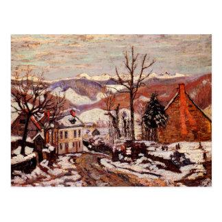 Winter in Saint Sauves d'Auvergne Postcard