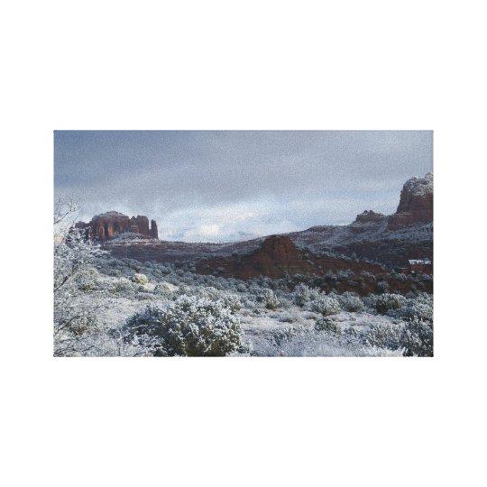 Winter in Sedona II Canvas Print