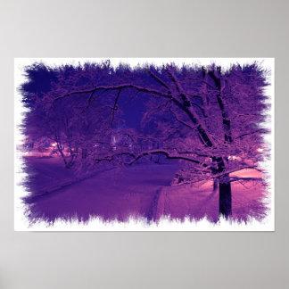 Winter in sepia tones posters