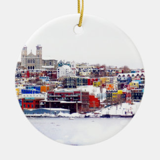 Winter In St. John's Double-Sided Ceramic Round Christmas Ornament