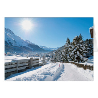 Winter in St. Moritz Greeting Card