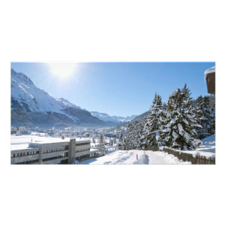 Winter in St. Moritz Personalized Photo Card