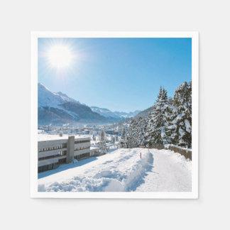 Winter in St Moritz Paper Napkin