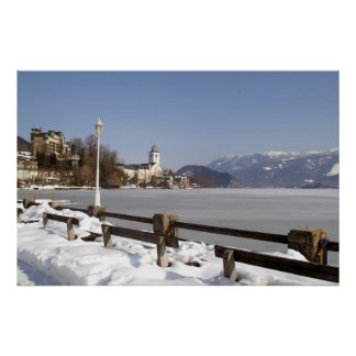 Winter in St. Wolfgang Poster Print