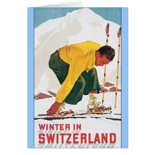 Winter in Switzerland Card