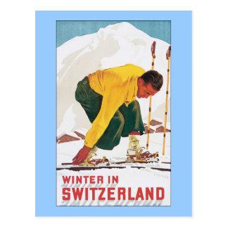Winter in Switzerland Postcard