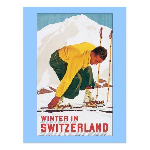 Winter in Switzerland Post Cards