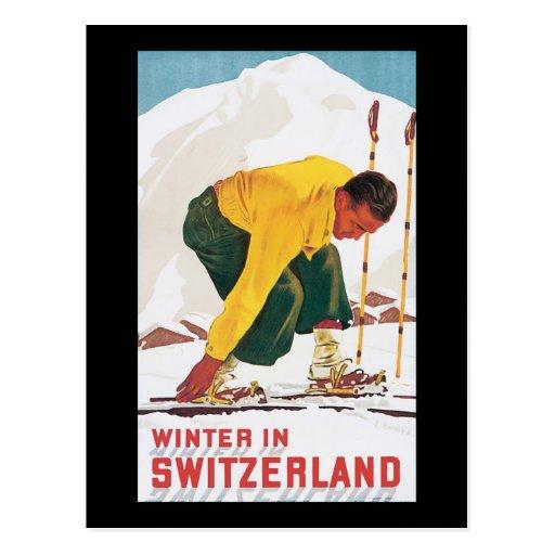 Winter in Switzerland Post Card