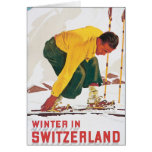 Winter in Switzerland Vintage Travel Poster