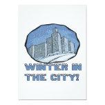 """Winter In The City 5"""" X 7"""" Invitation Card"""