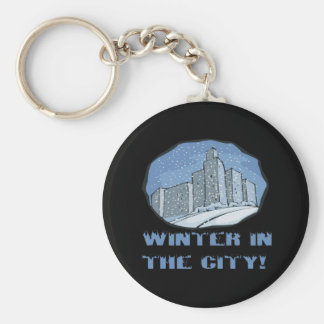 Winter In The City Keychain