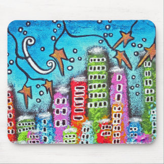 Winter In The City Mouse Pad