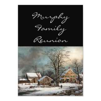 Winter in the Country, A cold  Morning 5x7 Paper Invitation Card