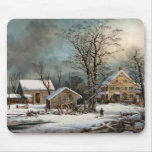 Winter in the Country, A cold  Morning Mouse Pads