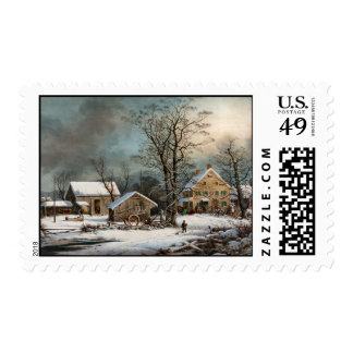 Winter in the Country, A cold  Morning Postage