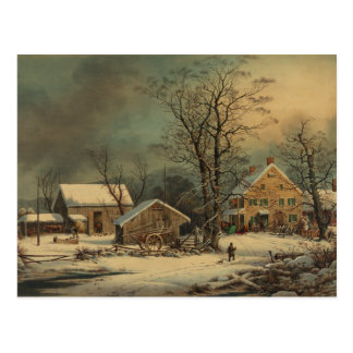Winter In The Country: A Cold Morning Post Card