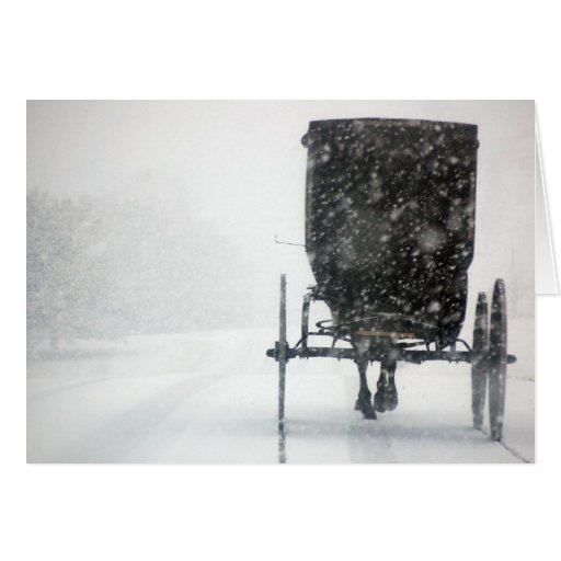Winter In The Country Card