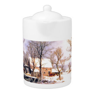 Winter in the Country Tea Pot