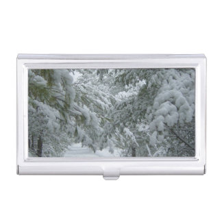 Winter in the Forest Business Card Case