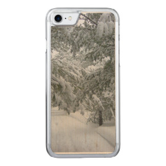 Winter in the Forest Carved iPhone 7 Case